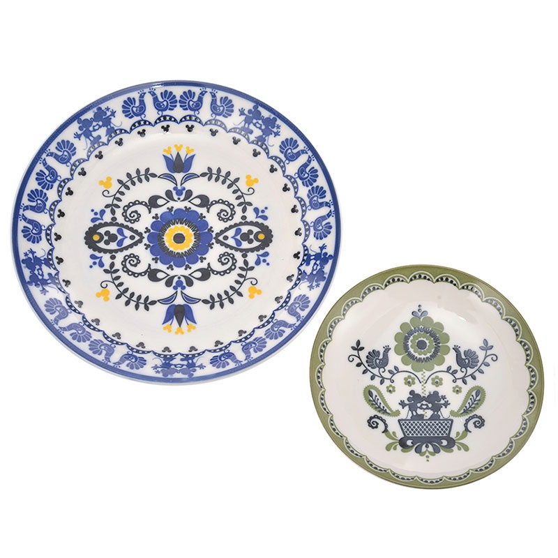 【三郷陶器】ミッキー&ミニー フォークロア パーティーセット