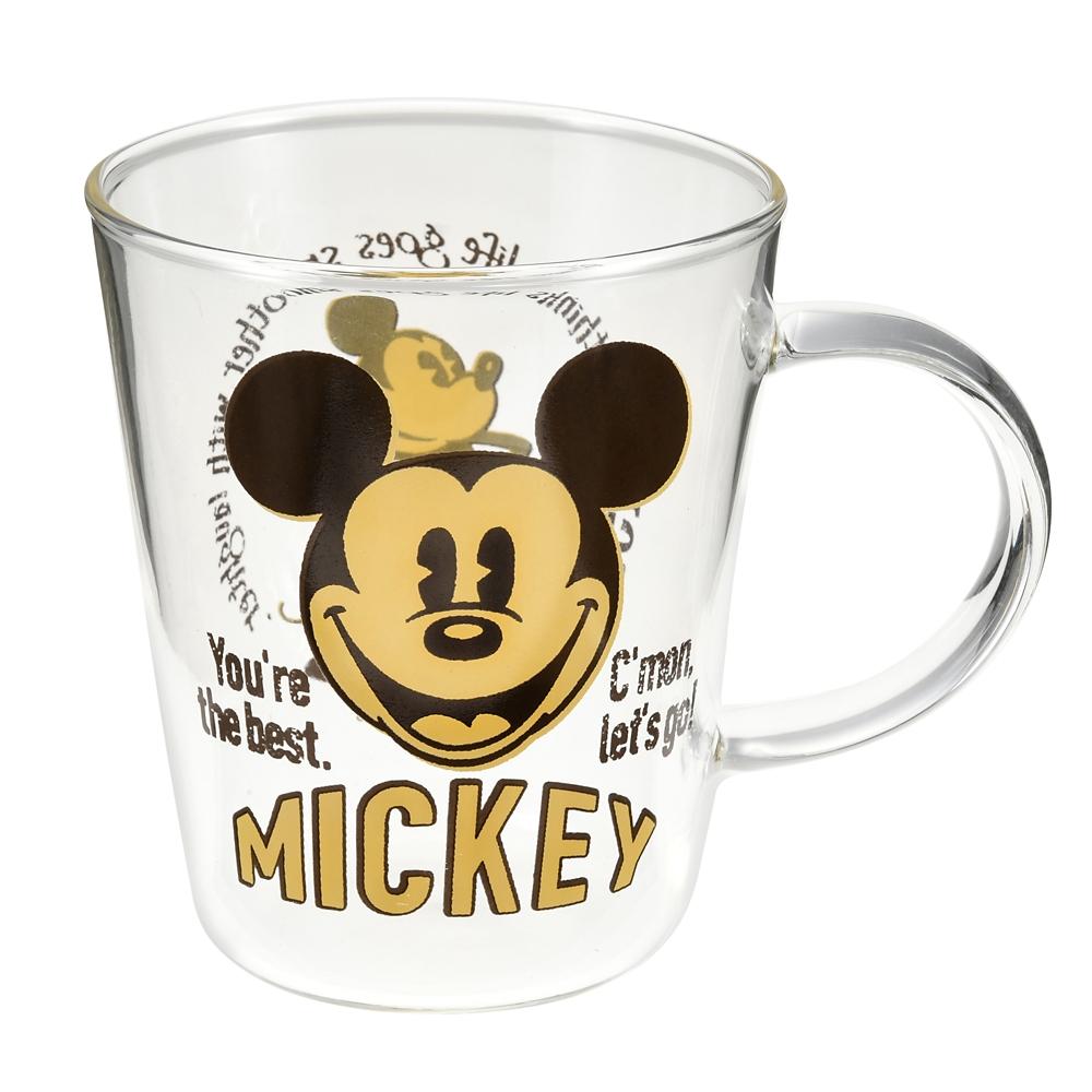 ミッキー マグカップ 耐熱ガラス