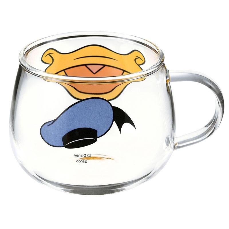 ドナルド マグカップ 耐熱ガラス フェイスマグ