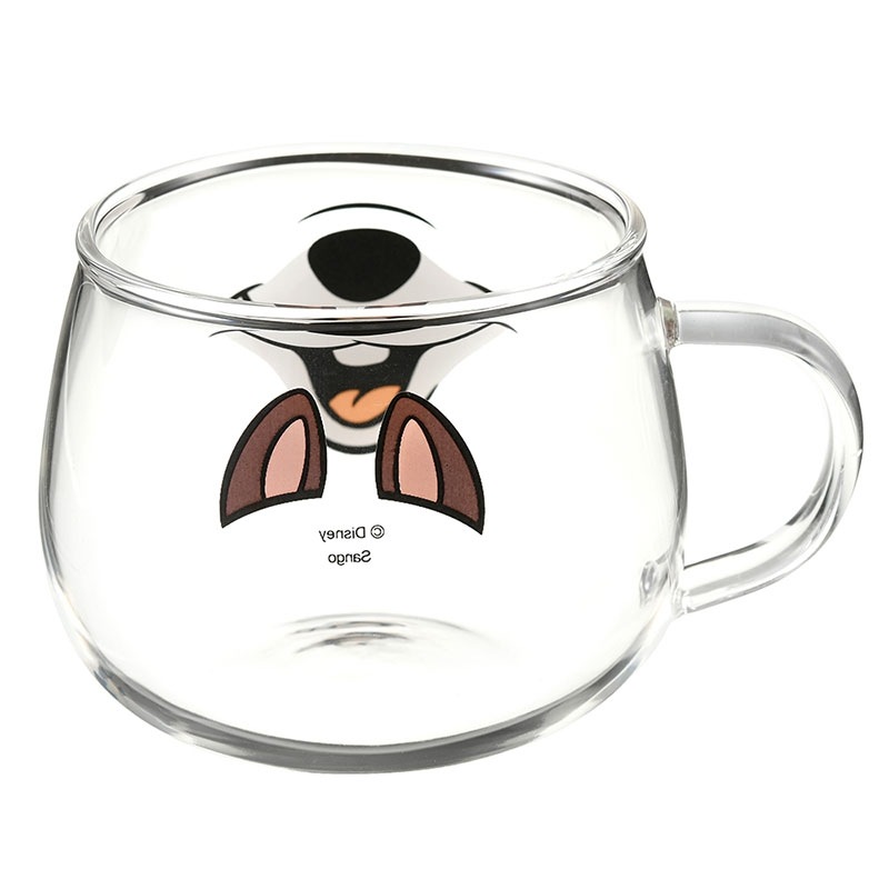 チップ マグカップ 耐熱ガラス フェイスマグ