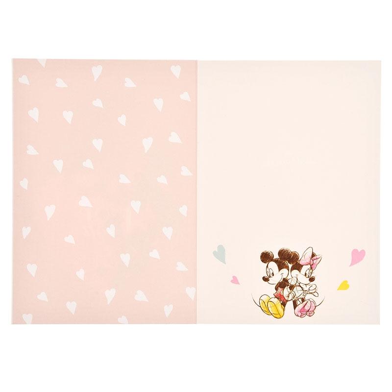 【Hallmark】ミッキー&ミニー メッセージカード 多目的 ハート スパンコール