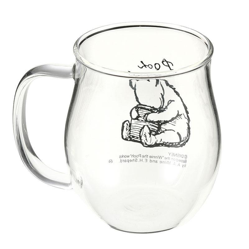 プーさん マグカップ 耐熱ガラス Classic Pooh