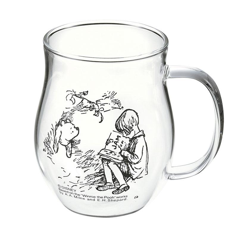 プーさん&クリストファー・ロビン マグカップ 耐熱ガラス Classic Pooh