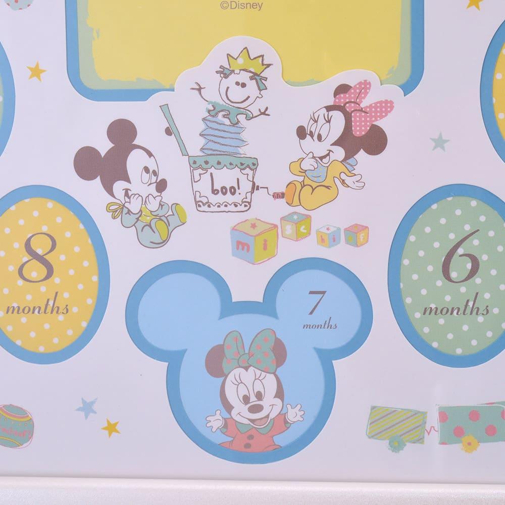 フォトフレーム ミッキー&ミニー、プルート ブルー マイファーストイヤー Disney baby