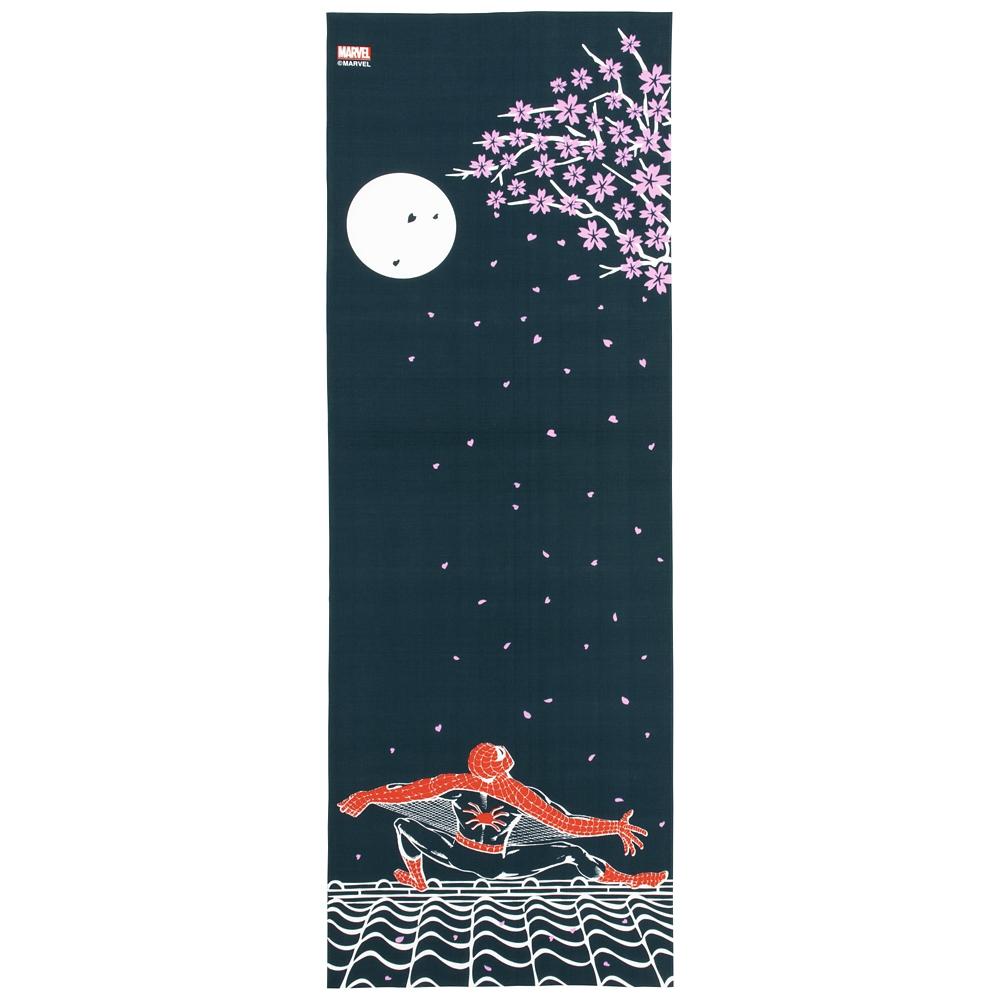MARVEL てぬぐい:スパイダーマン 月に桜