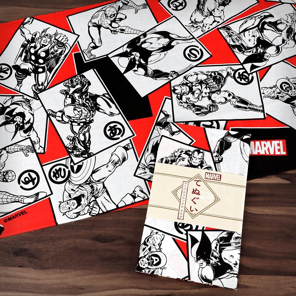 MARVEL てぬぐい:マーベルコミックス カルタ