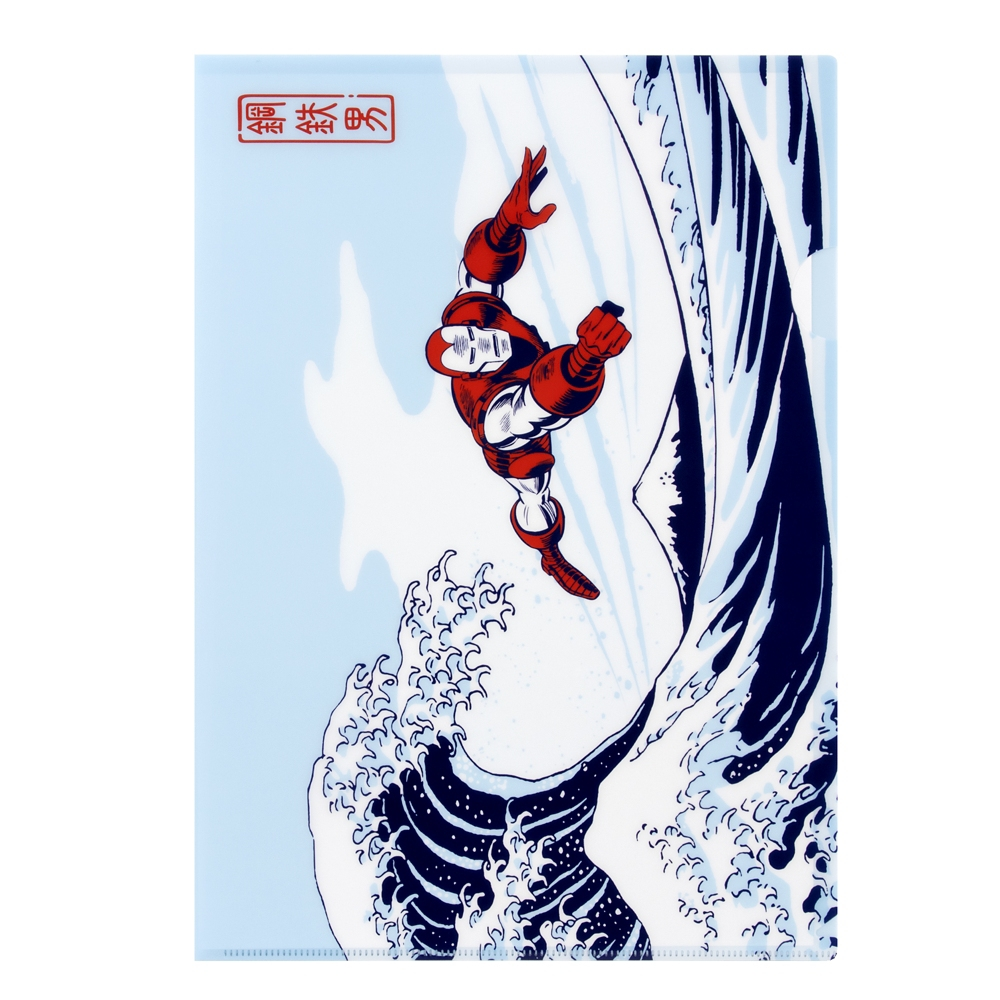 MARVEL クリアファイル ②アイアンマン 波に富士