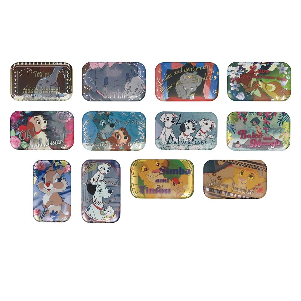 【12種セット】Disneyクラシックス スクエアカンバッジコレクション2