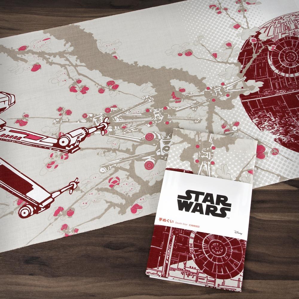 スター・ウォーズ 手ぬぐい Death Star 紅梅戦闘図