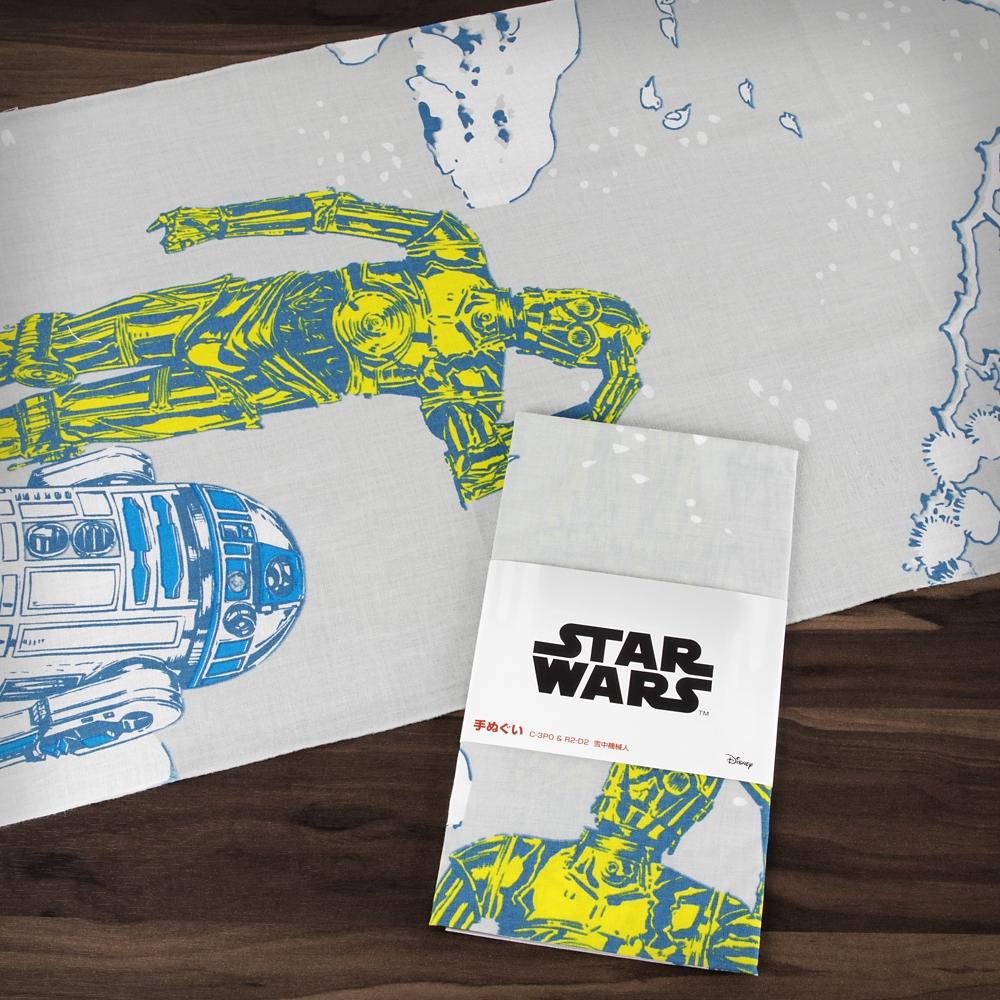 スター・ウォーズ 手ぬぐい C-3PO & R2-D2 雪中機械人