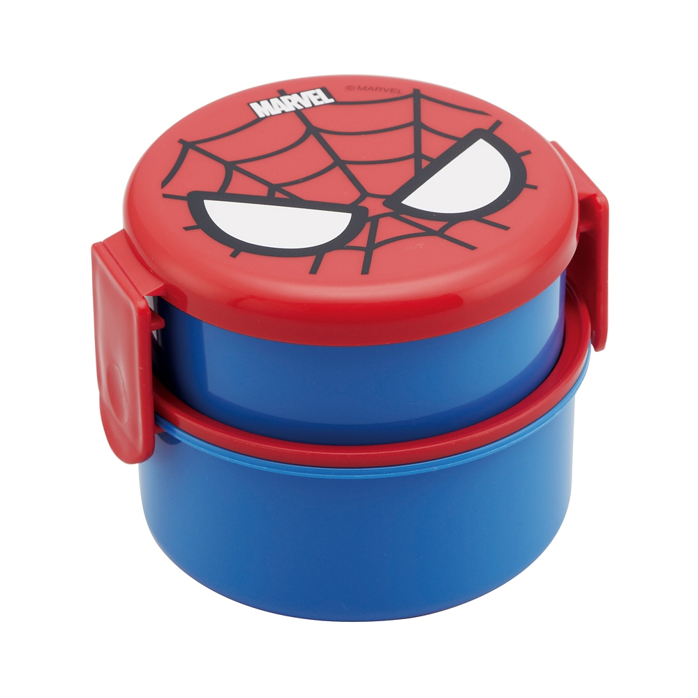 ●MARVEL スパイダーマン●丸型ランチボックス2段[ミニフォーク付]ONWR1