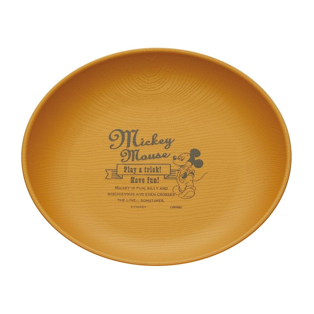 ミッキーマウス 【木目食器シリーズ】木目プレート(丸型) NROP1