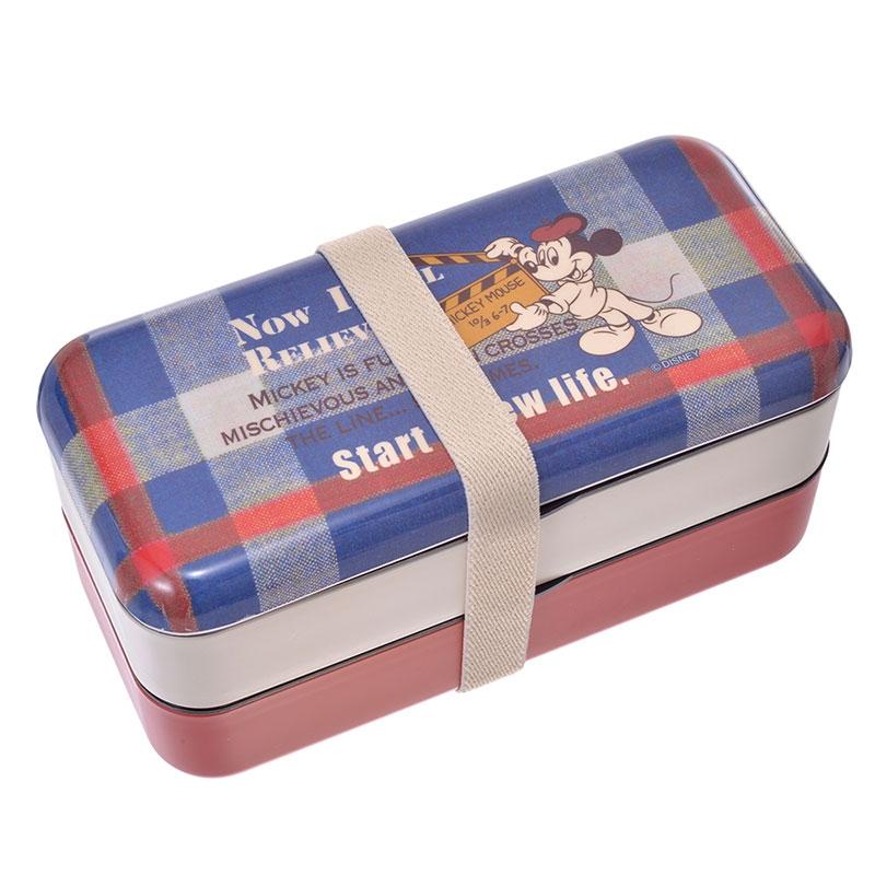 シンプルランチボックス(メラミン製フタ)[総容量600ml]●ミッキー●SLBW6M