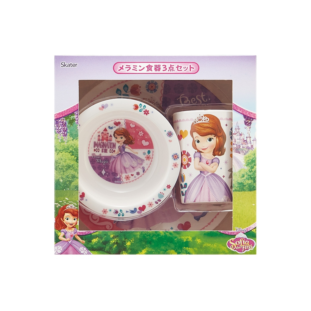 2000円ギフトセットメラミン食器3点セット●小さなプリンセス ソフィア●SET932