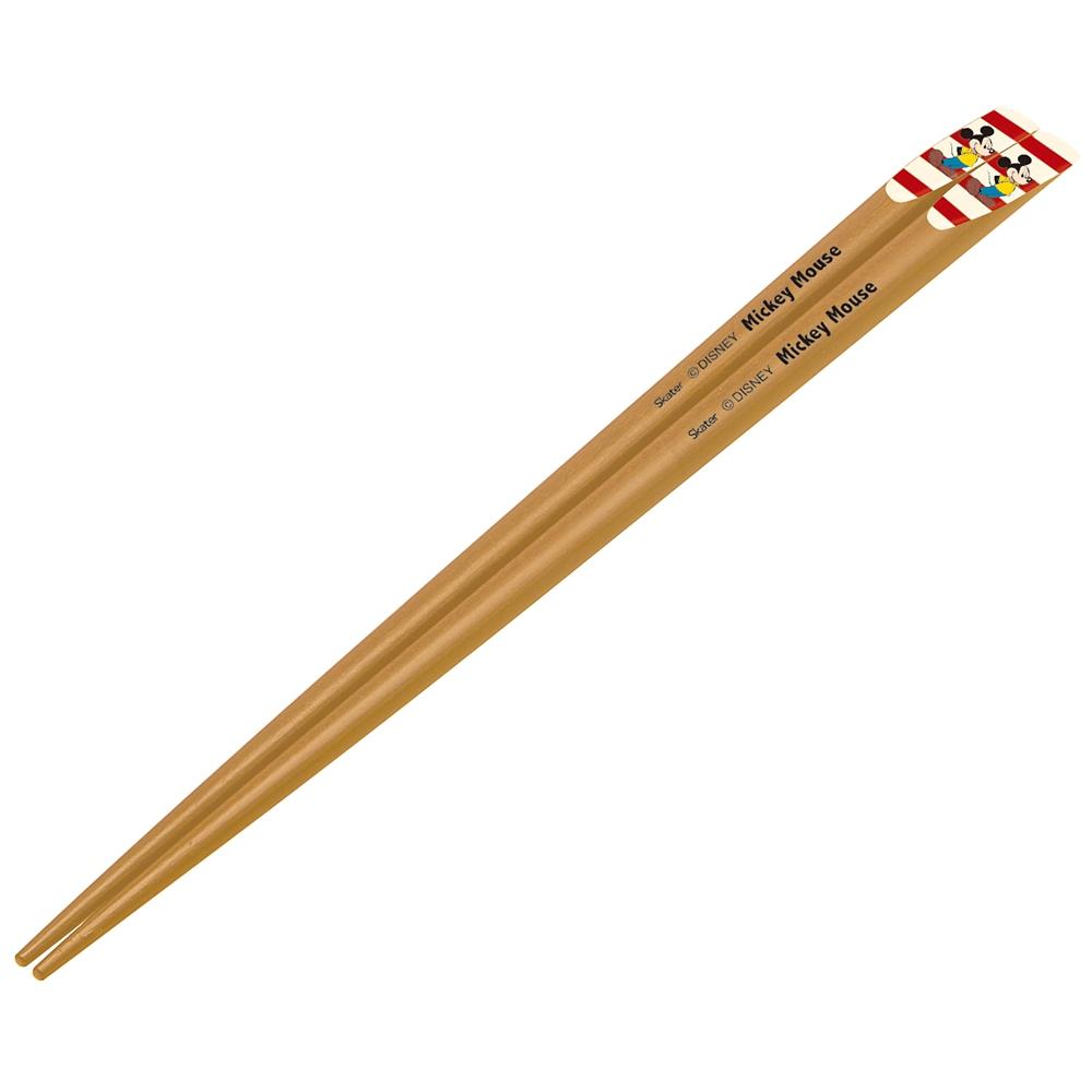 天削箸[22.5cm] ミッキー 白×赤  ANTS45