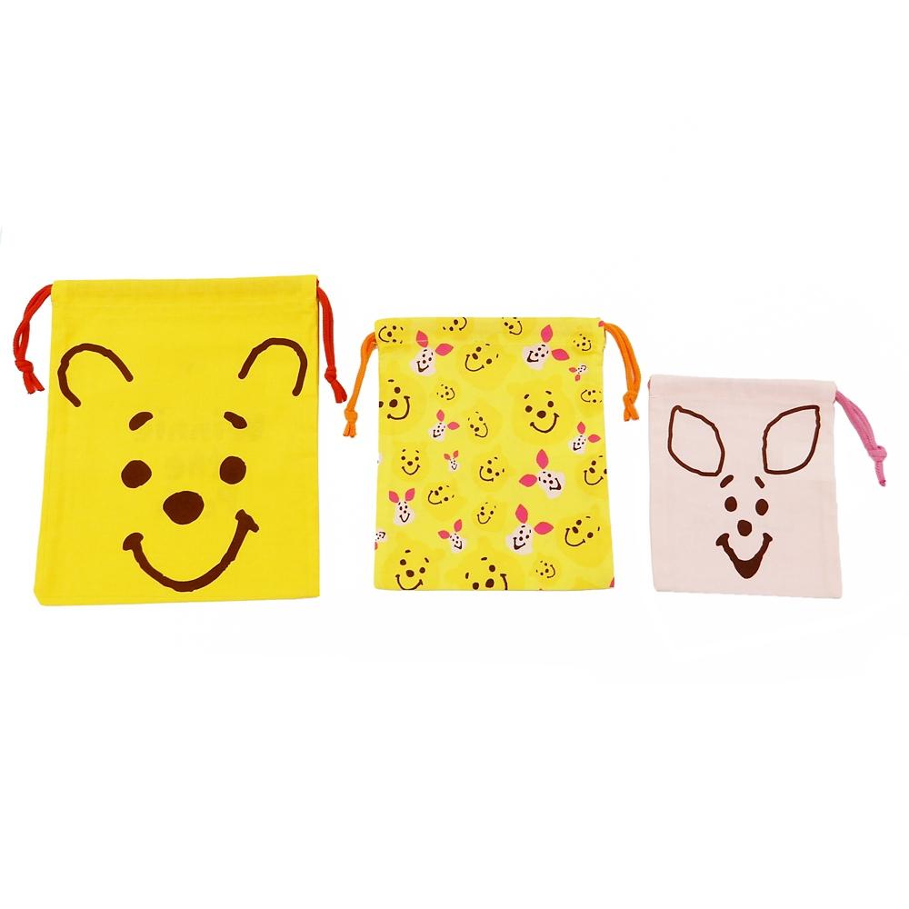 巾着3枚セット(S/M/L)●くまのプーさん フェイス●KB3S