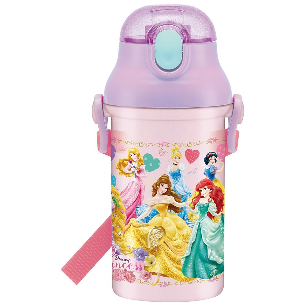 プリンセス 食洗機対応プラ製プッシュ式ストローボトル[400ml] PSB4P