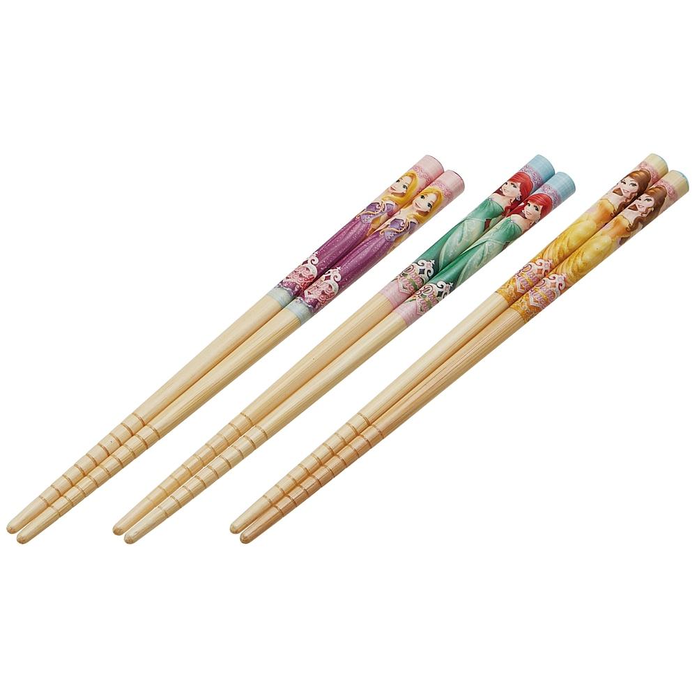 子ども用竹安全箸〔すべり止加工〕3点セット[16.5cm] プリンセス18  ANT2T
