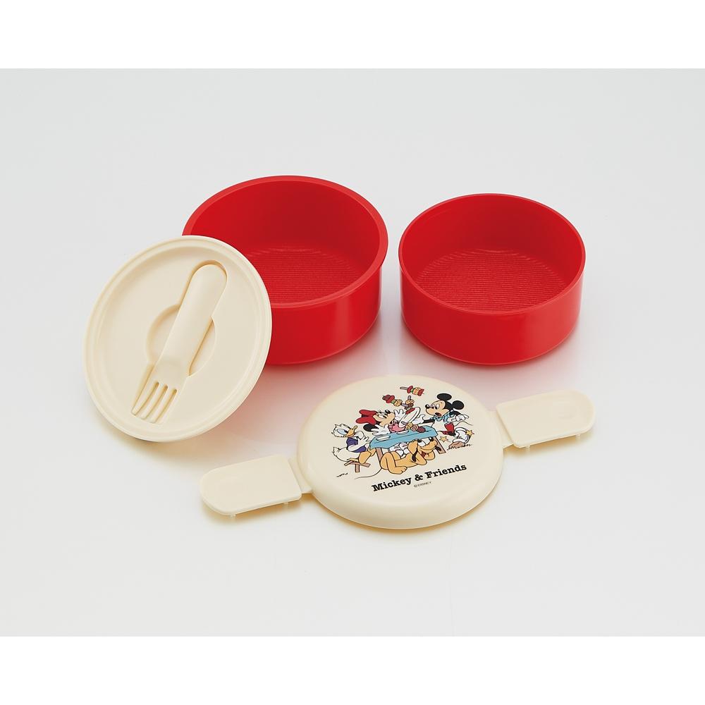 ミッキー&フレンズ ピクニック  丸型ランチボックス2段(ミニフォーク付)ONWR1