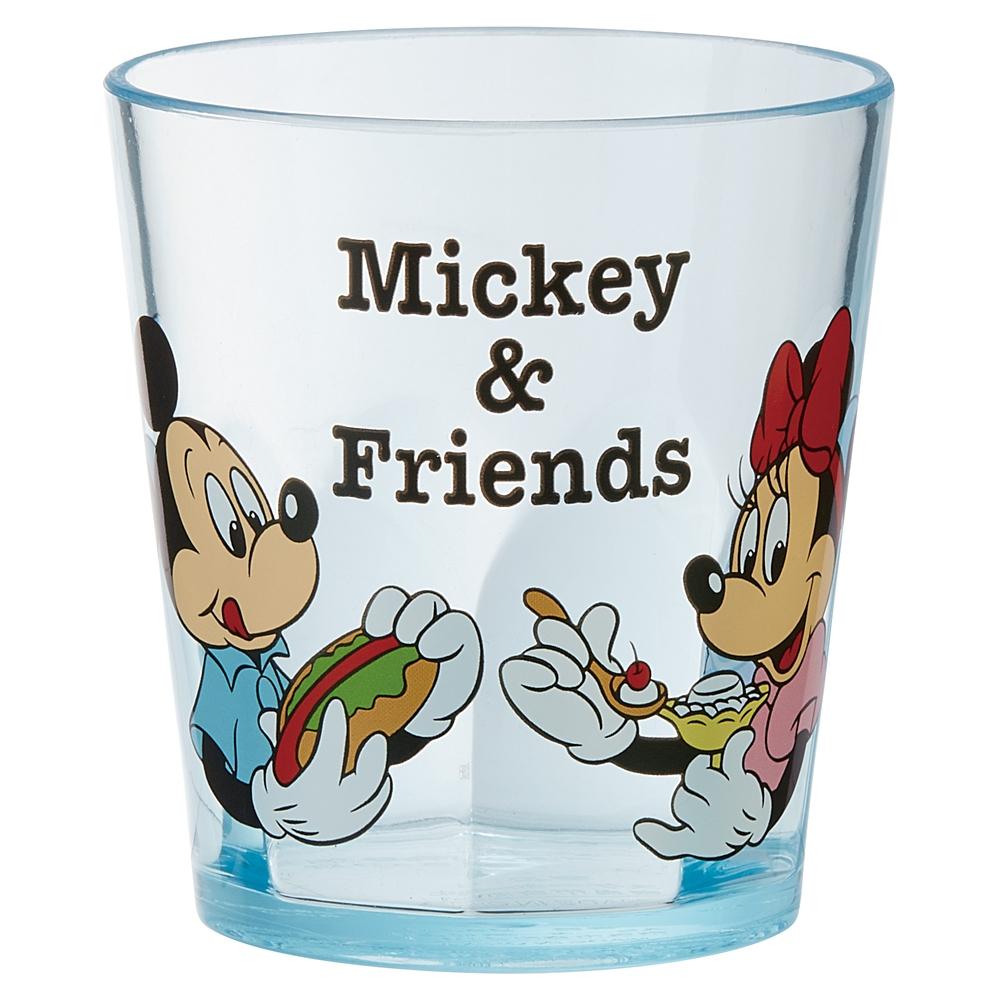 ミッキー&フレンズ ピクニック(ブルー) アクリルコップ[280ml] KSA4