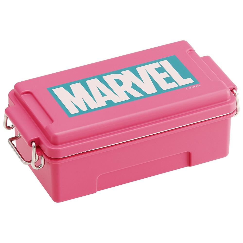 ふわっとコンテナランチBOX[容量500ml]●マーベル ロゴ ピンク●PCTN5