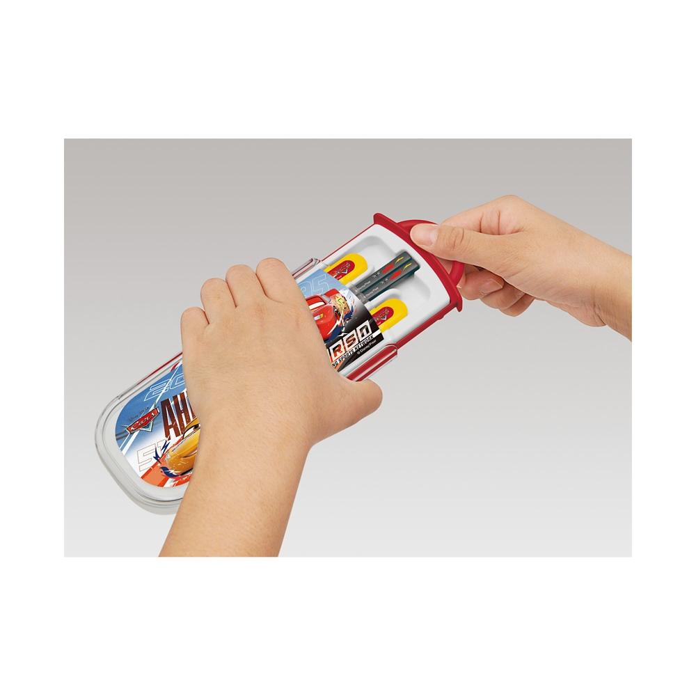 カーズ 食洗機対応スライド式トリオセット[名前入れスペース付きハシ] TCS1AM