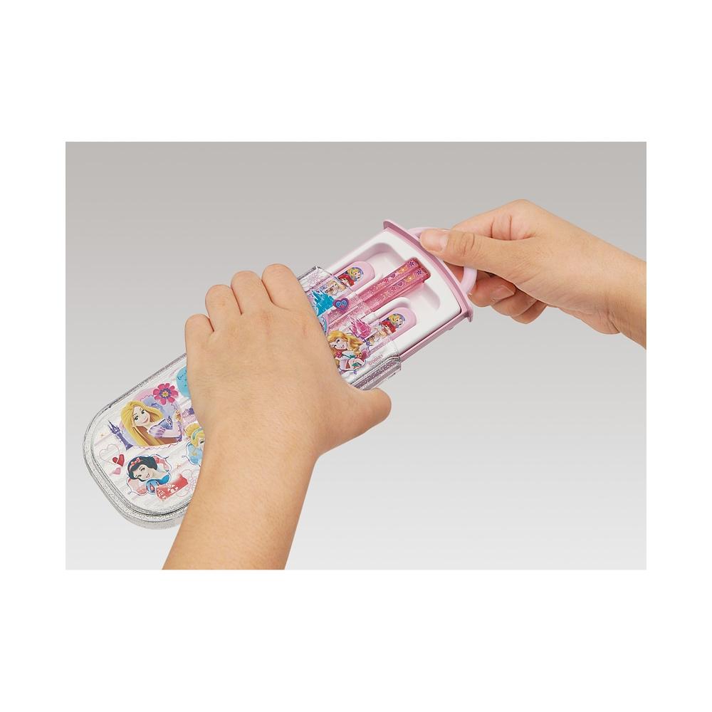 プリンセス  食洗機対応スライド式トリオセット[名前入れスペース付きハシ] TCS1AM