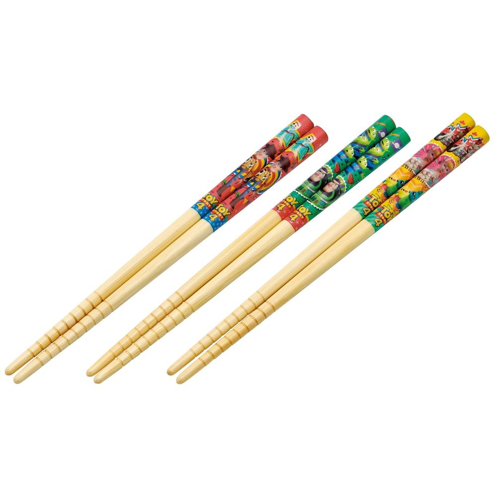 子ども用竹安全箸〔すべり止加工〕3点セット[16.5cm] トイストーリー4  ANT2T
