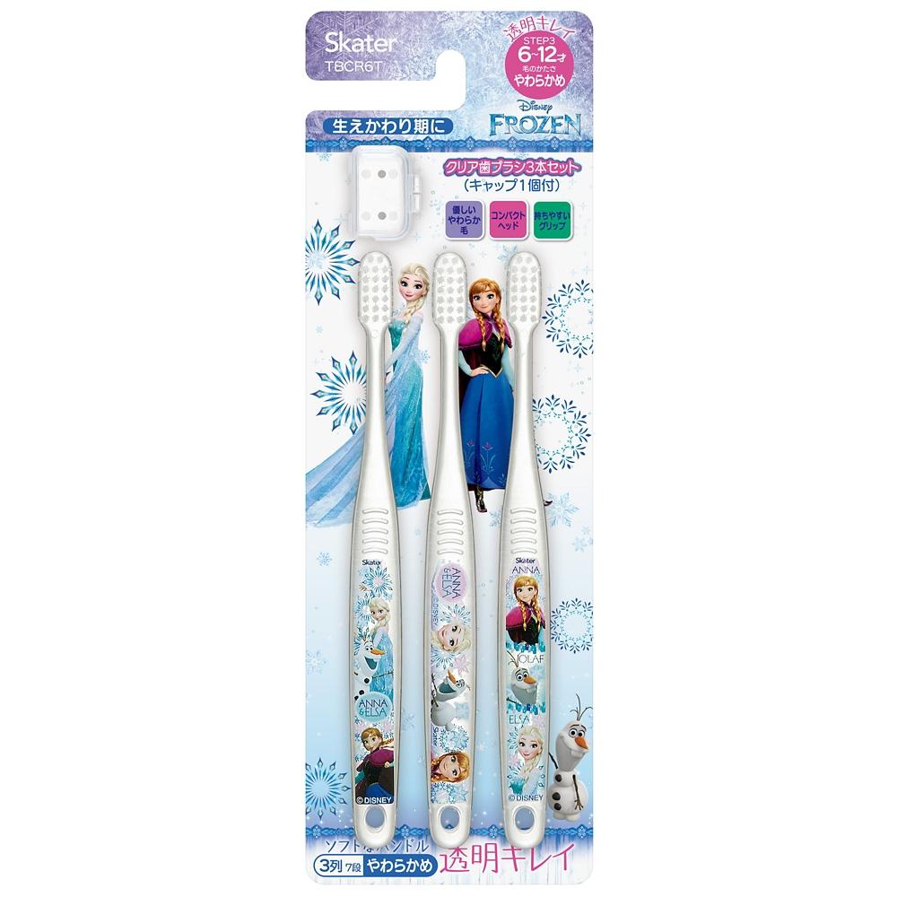 [小学生用]クリアこども歯ブラシ[3本入]●アナと雪の女王●TBCR6T