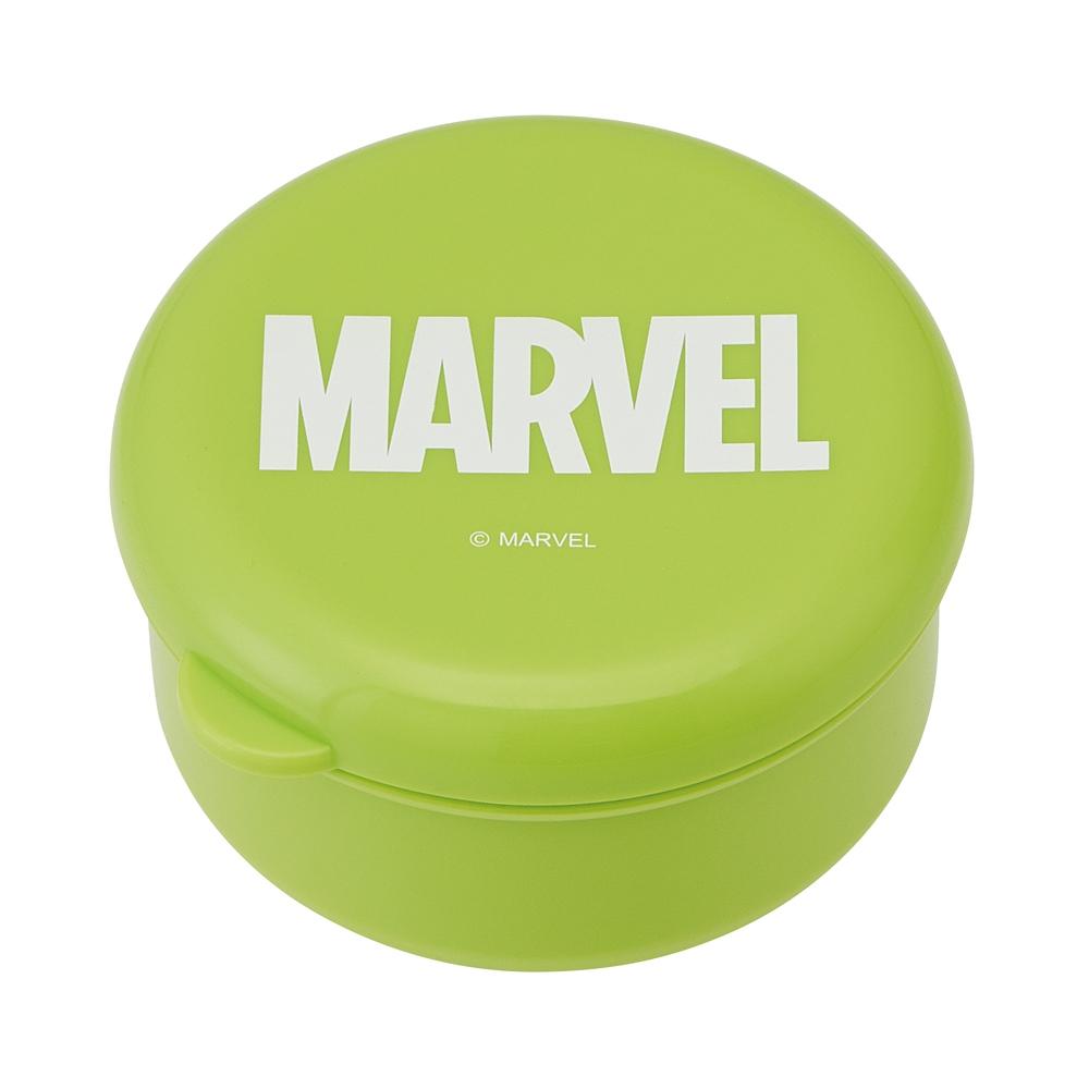 丸型シール容器●マーベル ロゴ グリーン●DSC1