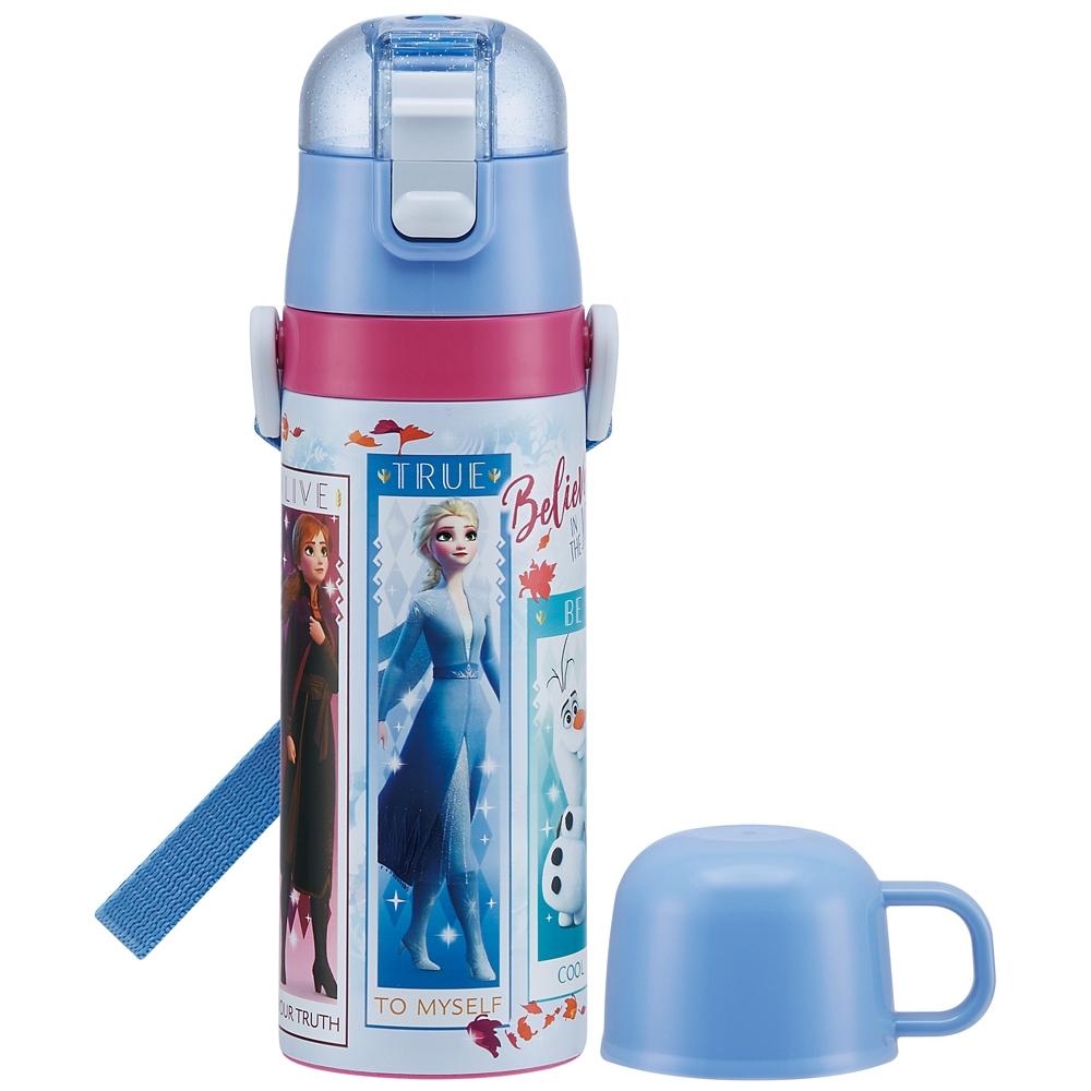 キャップを替えて使い方2通り2WAYステンレスボトル●アナと雪の女王2● SKDC4 スケーター