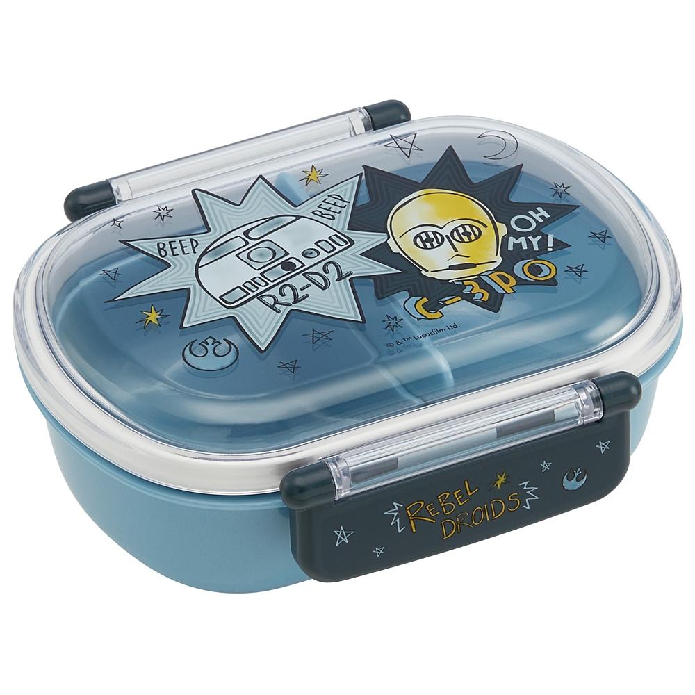 食洗機対応ふわっとフタタイトランチボックス[小判型]QAF2BA スターウォーズ DOODLES