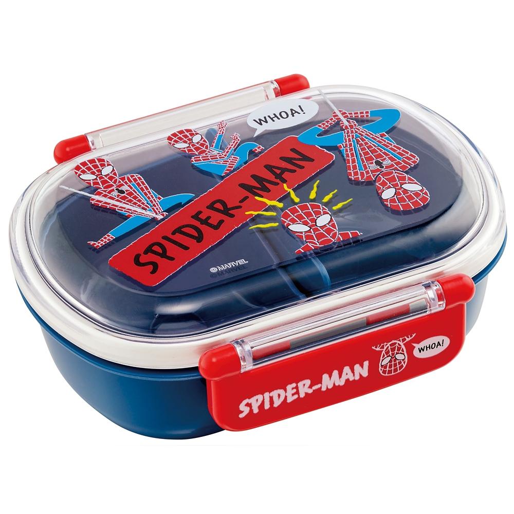 ●スパイダーマン CUTOUT●食洗機対応ふわっとフタタイトランチボックス[小判型]QAF2BA
