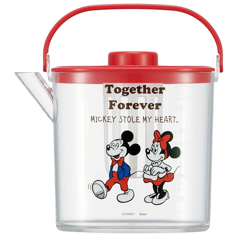 ティーバッグ用茶こし付 冷茶ポット[1.2L]●ミッキー&ミニー●CM10