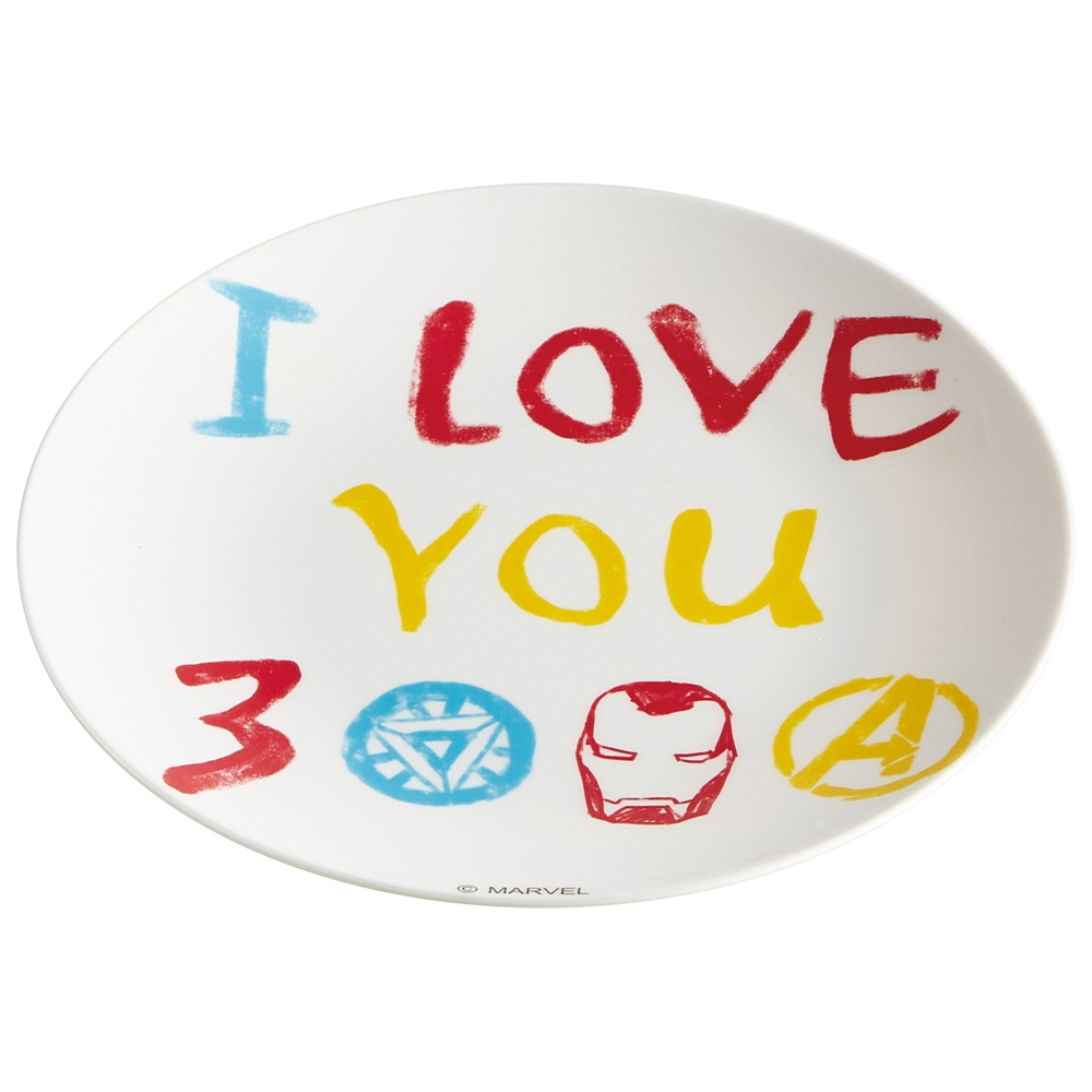 I LOVE YOU 3000 薄肉メラミンプレート/お皿 MPL20P