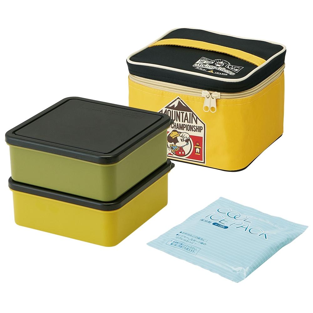 保冷バッグ付き行楽ランチボックス[保冷剤付き] ミッキーマウス アウトドア  KCPC2