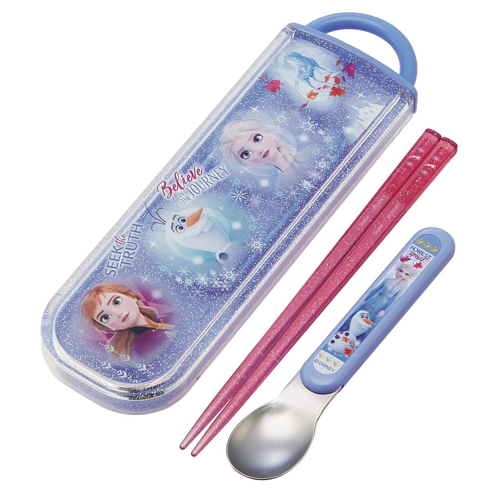 アナと雪の女王2 食洗機対応スライド式箸スプーンコンビセット[名前入れスペース付きハシ] CCA1