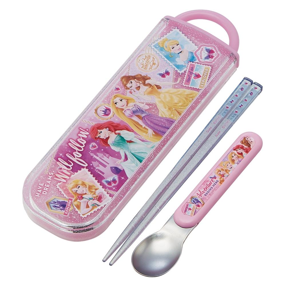 プリンセス  食洗機対応スライド式箸スプーンコンビセット[名前入れスペース付きハシ] CCA1