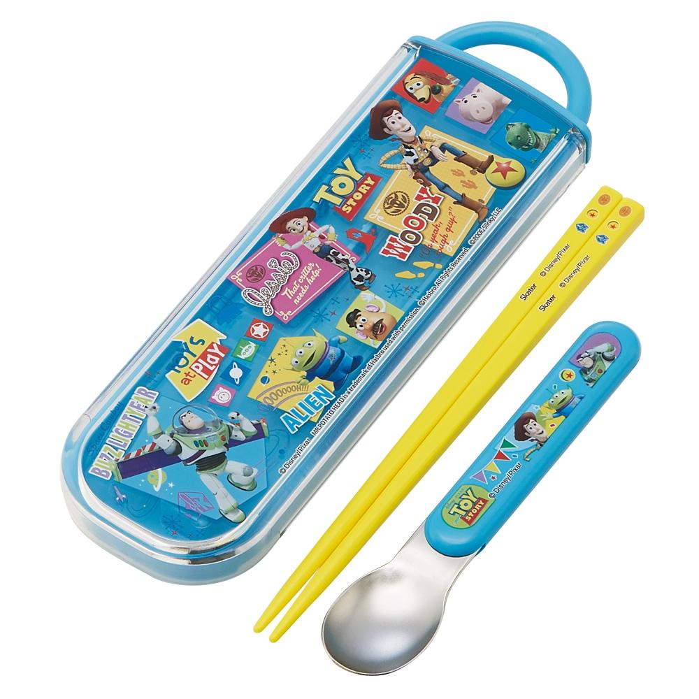 食洗機対応スライド式箸スプーンコンビセット[名前入れスペース付きハシ]●トイストーリー 20●CCA1