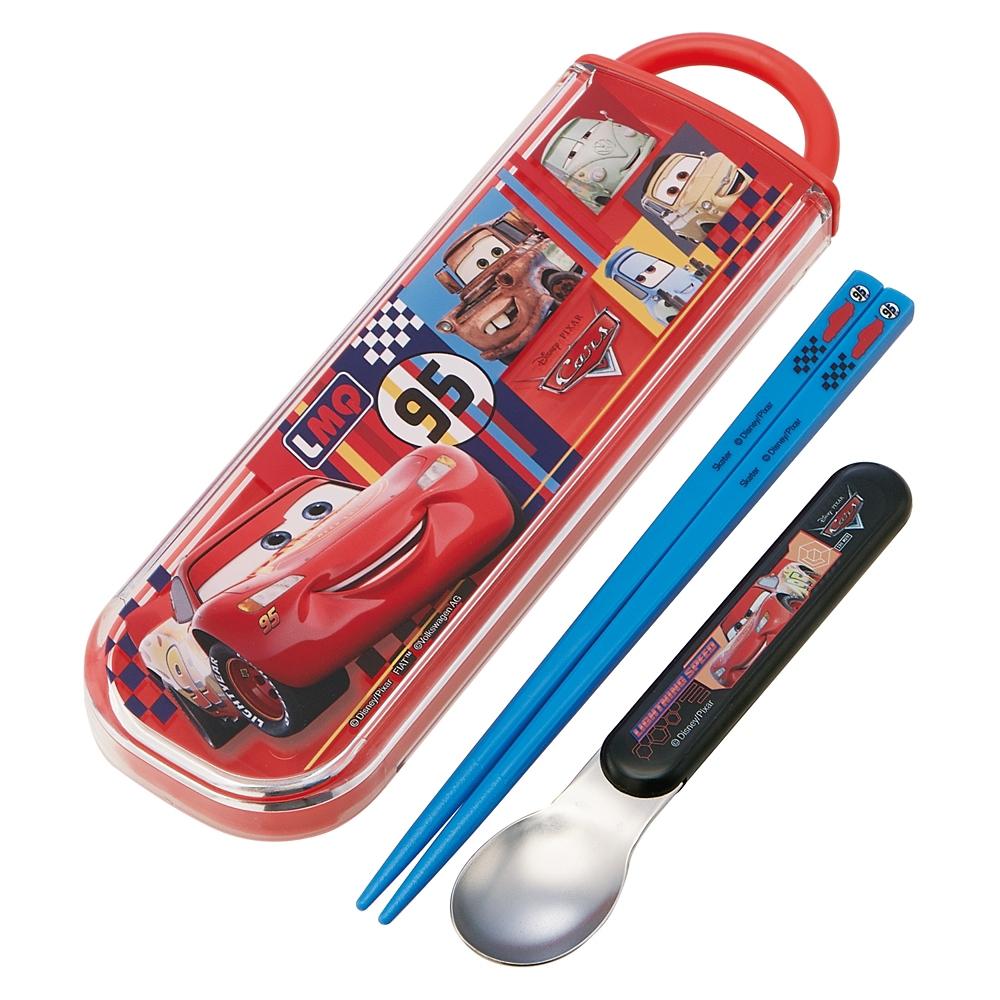 食洗機対応スライド式箸スプーンコンビセット[名前入れスペース付きハシ]●カーズ 20●CCA1
