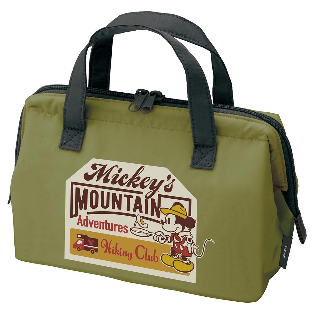 ミッキー アウトドア がま口型 保冷ランチバッグ KGA1