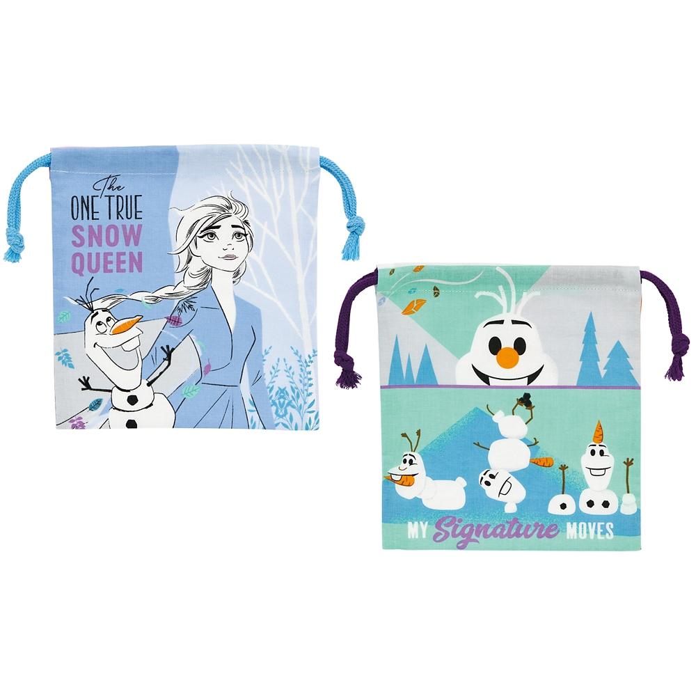 アナと雪の女王2 マチ付き巾着[2枚組] KB64WN