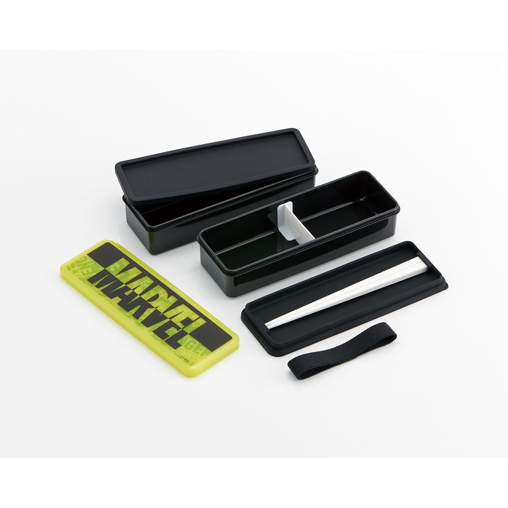 マーベル ロゴネオン シリコン製シールフタ式2段ランチボックス[総容量900ml] SSLW9
