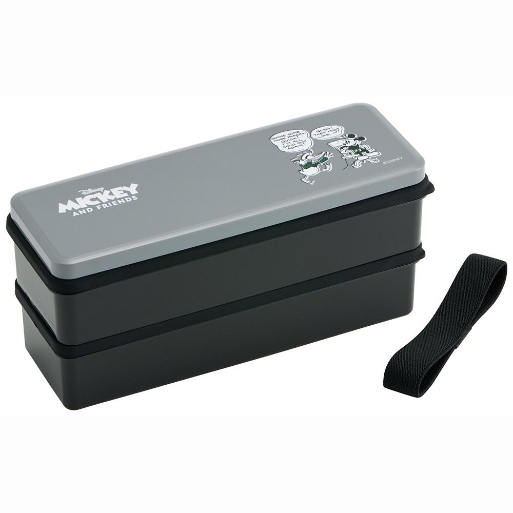 シリコン製シールフタ式2段ランチボックス[総容量900ml] Mickey TruePALS  SSLW9