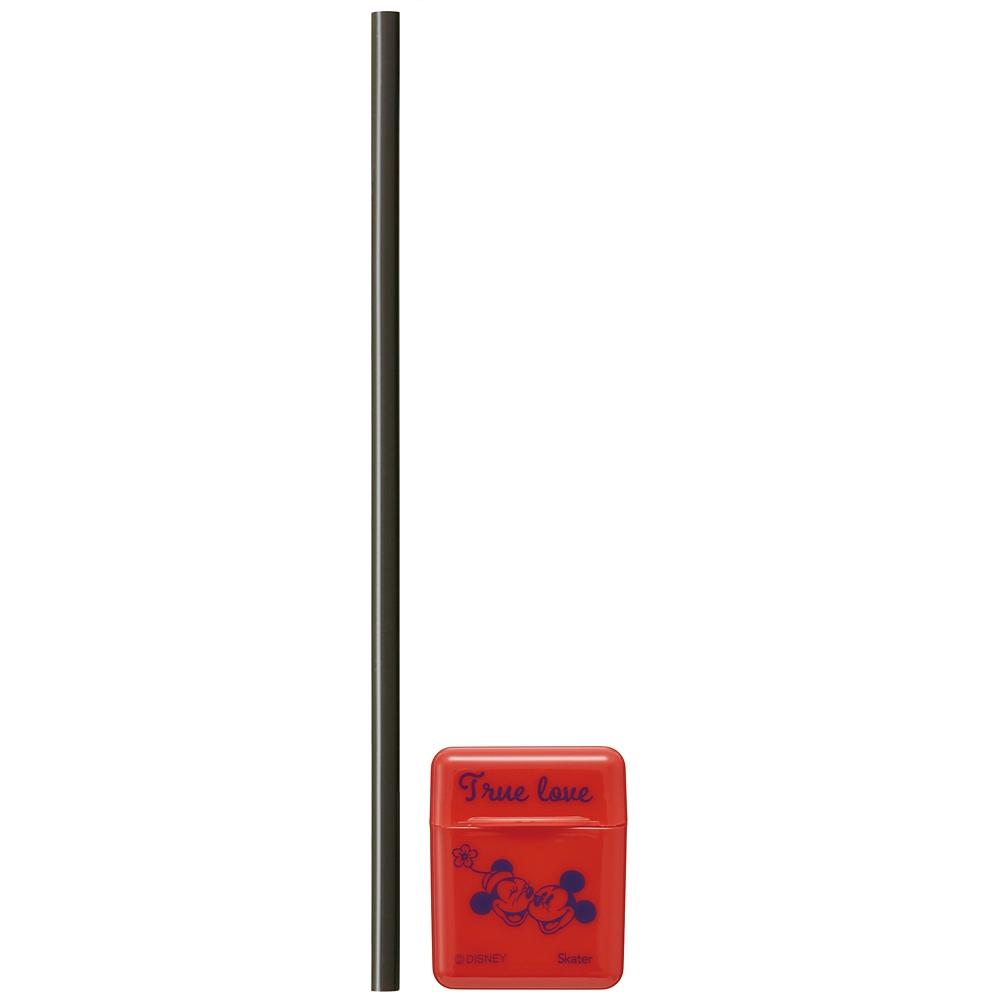 ミッキーマウス ケース付きシリコーンストロー[21cm] CSST1