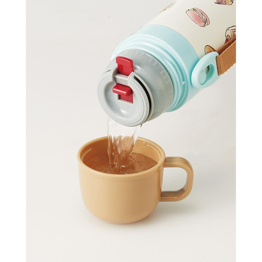 キャップを替えて使い方2通り超軽量コンパクト2WAYステンレスボトル●チップ&デール スイーツ●SKDC4