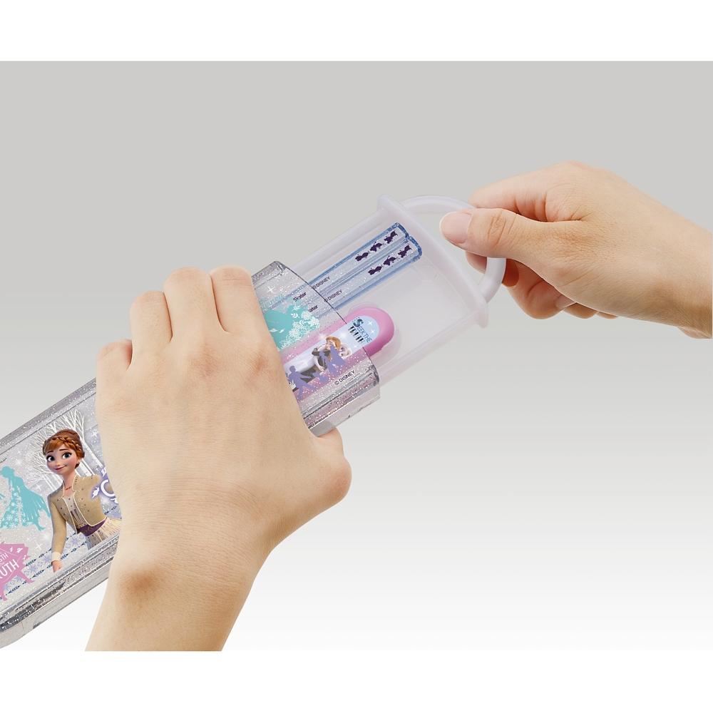 アナと雪の女王  食洗機対応スライド式箸スプーンコンビセット[名前入れスペース付きハシ] CCA1