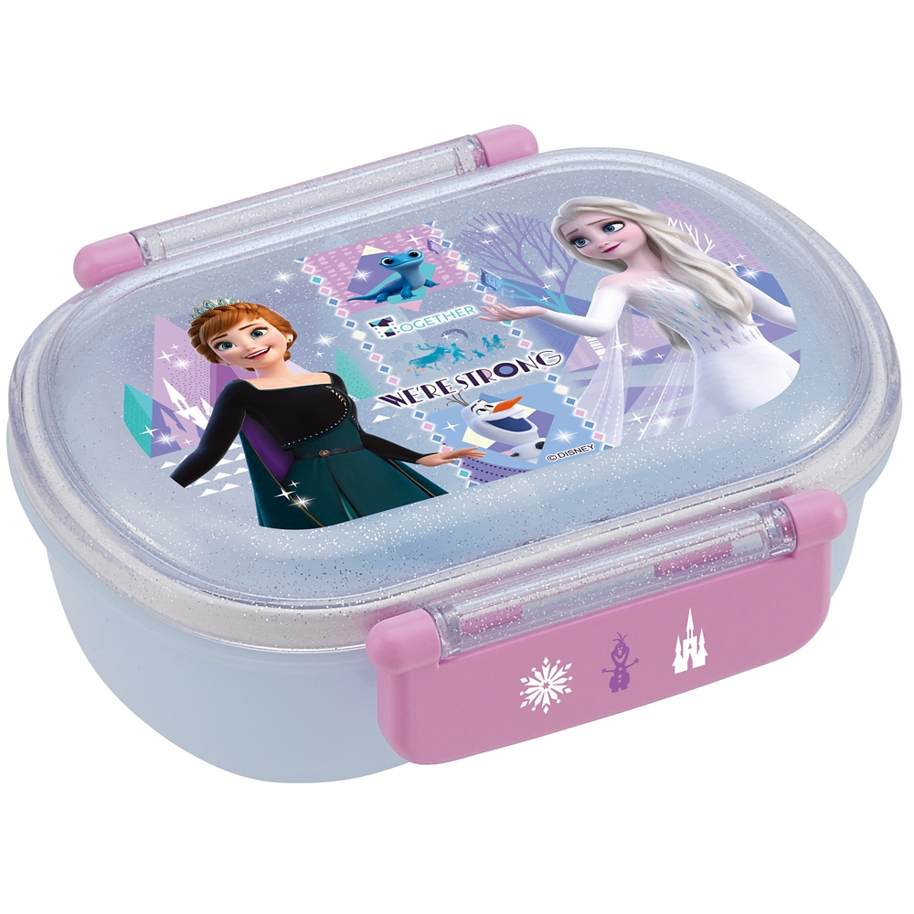 抗菌食洗機対応ふわっとフタタイトランチボックス[小判型]●アナと雪の女王 21●QAF2BAAG