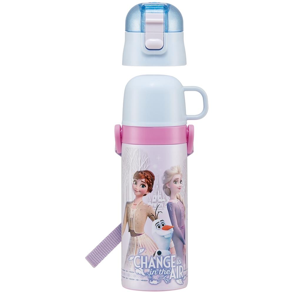 キャップを替えて使い方2通り超軽量コンパクト2WAYステンレスボトル●アナと雪の女王 21●SKDC4