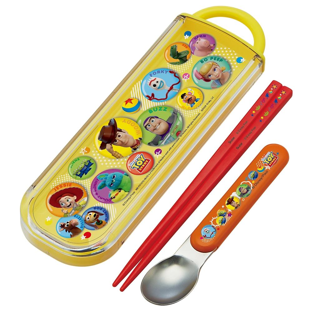 トイ・ストーリー  食洗機対応スライド式箸スプーンコンビセット[名前入れスペース付きハシ] CCA1